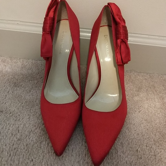 Enzo Angiolini Shoes - Red Satin Heels 475256f50